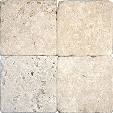 """Tuscany Classic 12"""" x 12'' Travertine Field in Honed and Unfilled Beige"""
