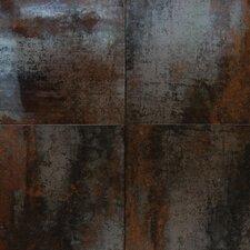 """Nickel Antares 20"""" x 20"""" Porcelain Metal Tile in Brown"""