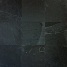 Montauk 12'' x 12'' Slate Field Tile in Black