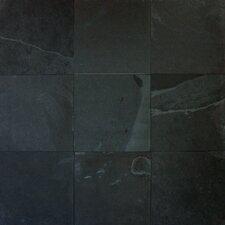 Montauk 12'' x 12'' Slate Field Tile in Black