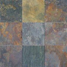 Classic 16'' x 16'' Slate Field Tile in Multi