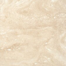 """Tuscany Ivory 6"""" x 6"""" Travertine Field Tile in  Honed, Filled and Beveled Beige"""