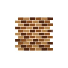 Crystallized 1'' x 2'' Glass Mosaic Tile in Brown