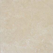 "Tuscany Platinum 12"" x 12"" Travertine Field Tile in Honed Beige"