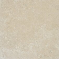 "Tuscany Platinum 18"" x 18"" Travertine Field Tile in Honed Beige"