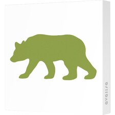 Silhouettes Bear Stretched Canvas Art