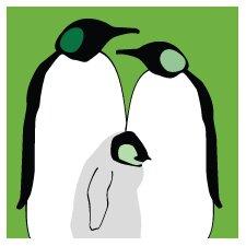 Animals Penguins Stretched Canvas Art