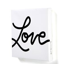 "Imaginations ""Love"" Textual Art on Wrapped Canvas"