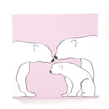Animals Polar Bears Painting Print on Canvas