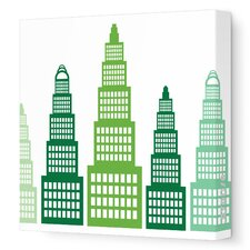 Imaginations Skyscraper Stretched Canvas Art