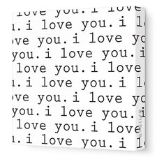 Imaginations 'I Love You' Graphic Print on Stretched Canvas