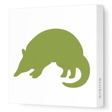 Silhouettes Armadillo Stretched Canvas Art