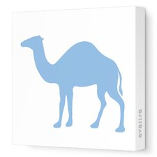 Silhouettes Camel Stretched Canvas Art