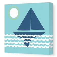 """Things That Go Sailing"" Painting Print on Wrapped Canvas"