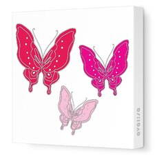 Animals Butterfly Stretched Canvas Art