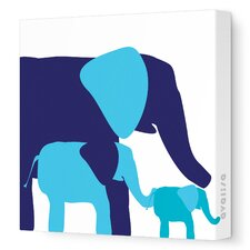 Animals Elephants Graphic Art on Canvas
