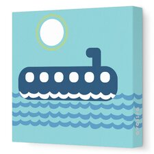 Things That Go Submarining Stretched Canvas Art