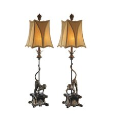 "38"" H Table Lamp with Bell Shade (Set of 2)"