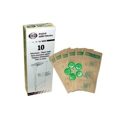 Filter Bag Box - 10 Three-layer Paper Bags with Caps for AUTOMATIC X, ESSENTIAL G,  and ELECTRONIC 370 Series