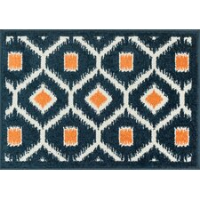 Terrace Navy/Orange Rug