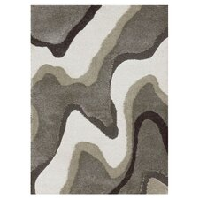 Enchant Gray & White Shag Area Rug