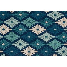 Gabriella Blue Floral Area Rug