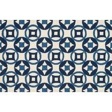 Francesca Hand woven Ivory/Navy Area Rug