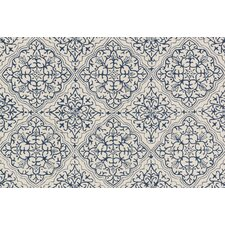 Francesca Blue/White Floral Area Rug
