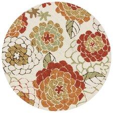 Francesca White Floral Area Rug