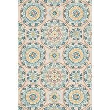 Francesca Ivory/Blue Floral Area Rug