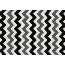 Lola Shag Handmade Black/Charcoal Area Rug