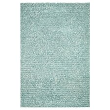Happy Shag Blue Solid Area Rug