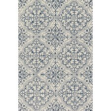 Francesca Blue & White Floral Area Rug