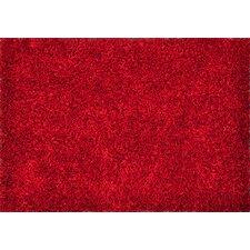 Carrera Shag Red Area Rug