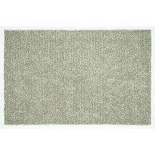 Happy Shag Light Grey Solid Area Rug