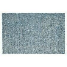 Happy Shag Denim Blue Solid Area Rug