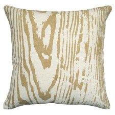 Graphic Faux Bois Linen Throw Pillow