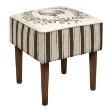 Rooster Upholstered Vanity Stool