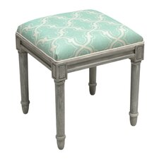 Graphic Trellis Vanity Stool