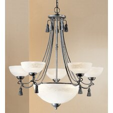 Rope and Tassel 6 Light Chandelier