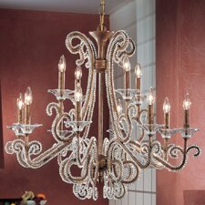 Concerto 12 Light Crystal Chandelier