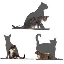 Silhouette Cat Perch (Set of 3)