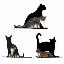 Silhouette Cat Perch (Set of 3)