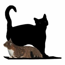 Silhouette Prance Cat Perch