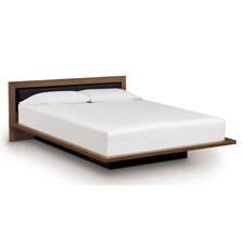 Moduluxe Bed with Low Upholstered Microsuede Headboard