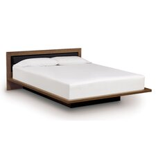 Moduluxe Bed with Low Upholstered Fabric Headboard