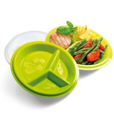 Go Healthy Travel Plate with Snap-Tight Lid (Set of 2)