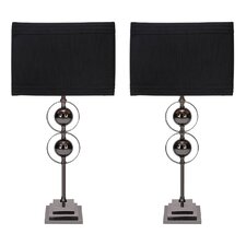 "Jaren 25"" H Table Lamp with Drum Shade (Set of 2)"