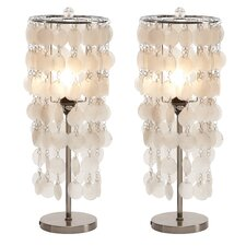 """Darrion 15"""" H Table Lamp with Drum Shade (Set of 2)"""