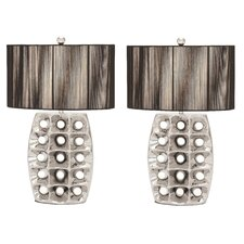 "Arati III 28"" H Table Lamp with Drum Shade (Set of 2)"